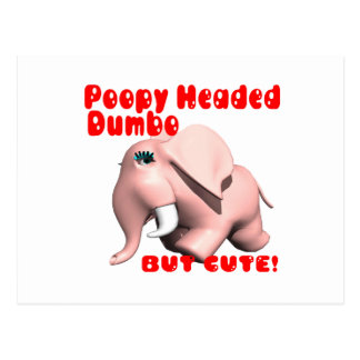 Poopy Headed Dumbo Postcard
