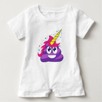 Poopy Unicorn Emoji Baby Bodysuit