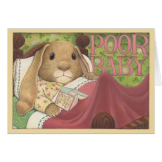 Poor Baby Bunny Card