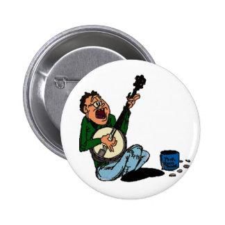 Poor Banjo Picker 6 Cm Round Badge