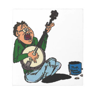 Poor Banjo Picker Memo Note Pads