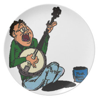 Poor Banjo Picker Plates