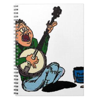 Poor Banjo Picker Spiral Notebook