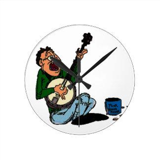 Poor Banjo Picker Wall Clock