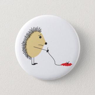 Poor Little Hedgehog 6 Cm Round Badge