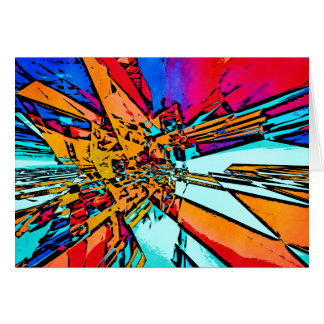 Pop Art Abstract Card