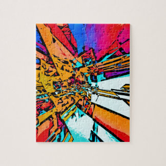 Pop Art Abstract Jigsaw Puzzle