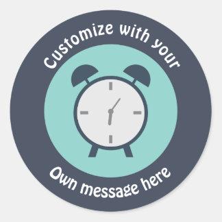 Pop Art Alarm Clock Round Sticker
