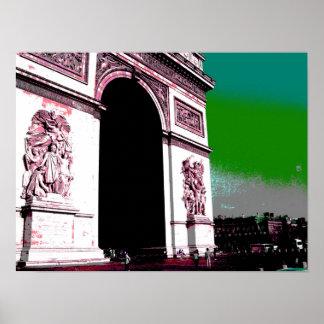 Pop Art Arc de Triomphe Poster