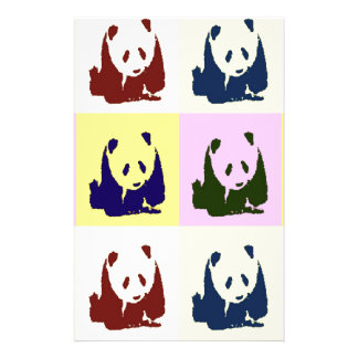 Pop Art Baby Pandas Stationery Design