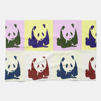 Pop Art Baby Pandas Tea Towel