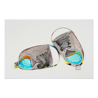 Pop Art Baby Shoes Poster