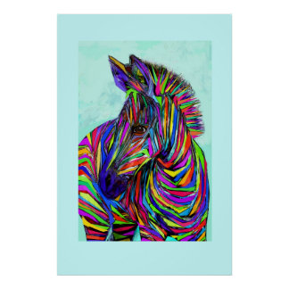 pop art baby zebra poster
