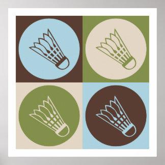 Pop Art Badminton Poster