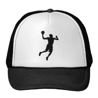 Pop Art Basketball Player Silhouette Cap