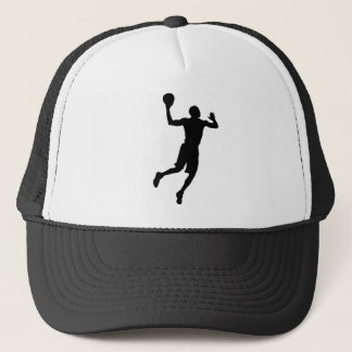 Pop Art Basketball Player Silhouette Trucker Hat