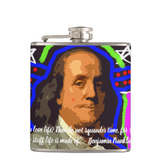 pop art benjamin franklin flask