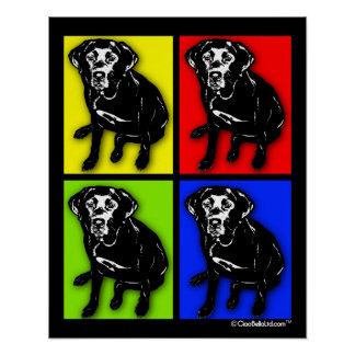Pop Art Black Labrador Retriever Poster