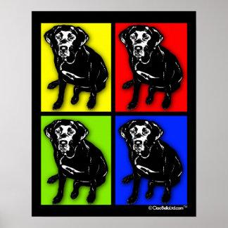 Pop Art Black Labrador Retriever Poster