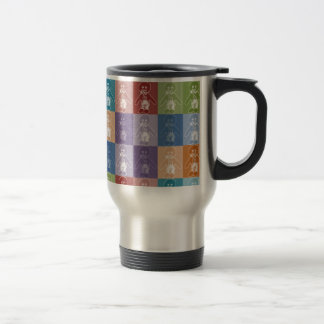 Pop Art Blocked Golly Travel Mug