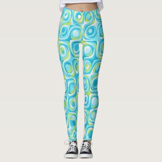 Pop Art Blue-Green retro Leggings