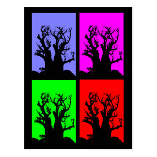 Pop Art Boab Tree Postcard