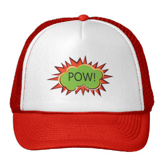 Pop art boom explosion typography cap