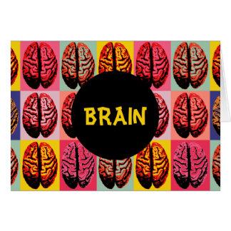 Pop Art Brain Card