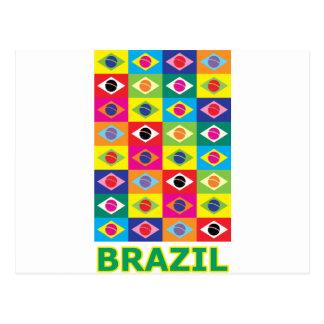 Pop Art Brazil Postcard