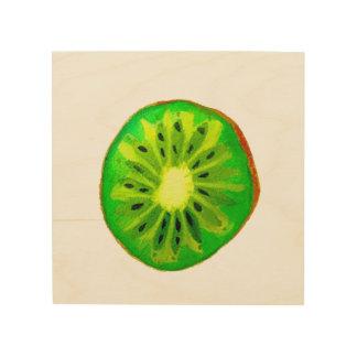 Pop art bright kiwi fruit original watercolour