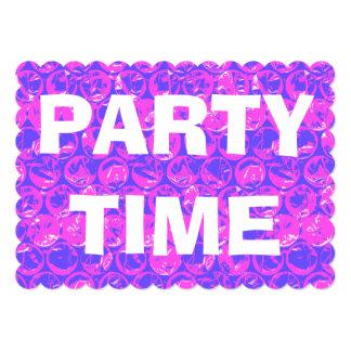 Pop art bubble wrap 13 cm x 18 cm invitation card
