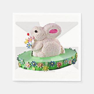 Pop Art Bunny Cake Disposable Napkin