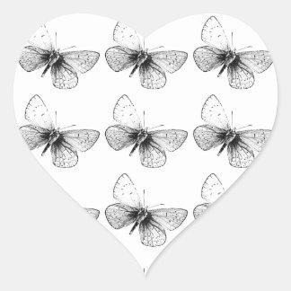 Pop Art Butterfly Heart Sticker