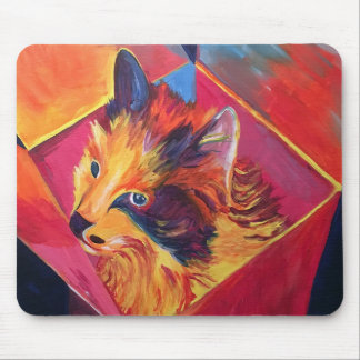 Pop Art Cat in a Box Mouse Pad