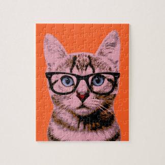 Pop Art Cat Jigsaw Puzzle