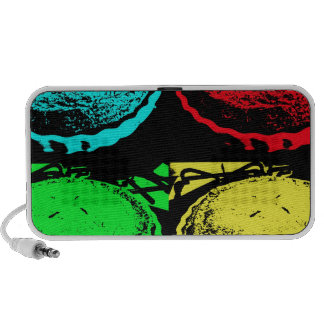 pop art cherry pie with a colourful pastry topping notebook speaker
