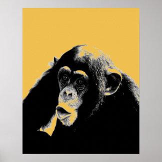 Pop Art Chimpanzee Poster