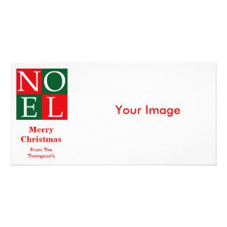 Pop Art Christmas NOEL Customized Photo Card