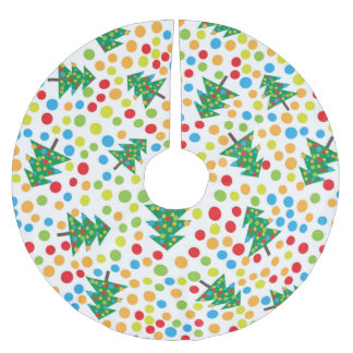 pop art christmas tree skirt