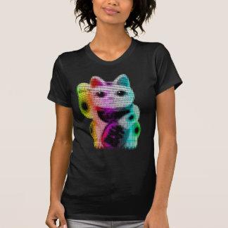 Pop Art Circles Lucky Cat - Maneki Neko T-Shirt