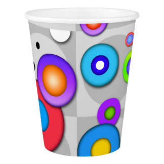 POP ART CIRCLES PAPER CUP