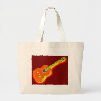 Pop Art Classical Guitar Jumbo Tote Bag