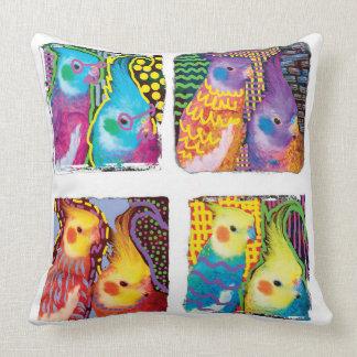 Pop Art Cockatiels pillow