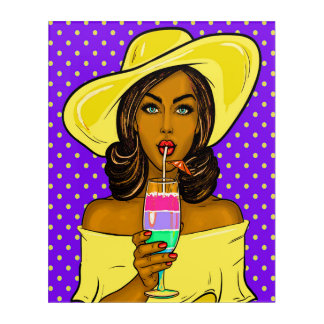 Pop Art Cocktail Chill Acrylic Wall Art