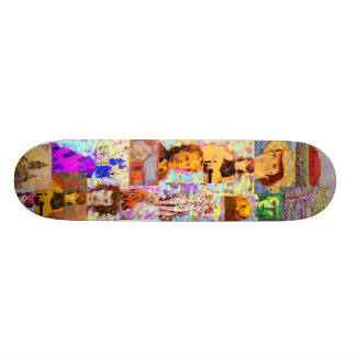 pop art collage skate board deck