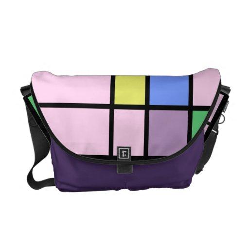 Pop Art Color Block Designer Bag Commuter Bags