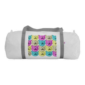 pop art color cat gym duffel bag