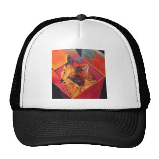 POP ART COLORFUL CAT CAP