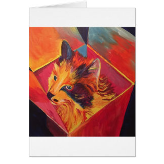 POP ART COLORFUL CAT CARD