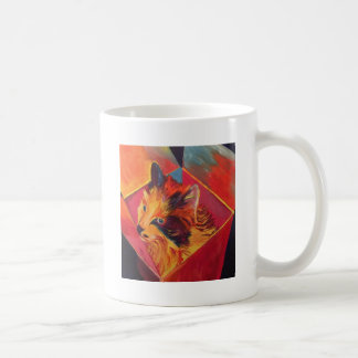 POP ART COLORFUL CAT COFFEE MUG